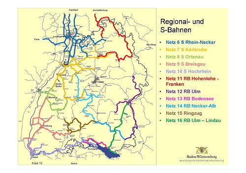 Schienennetz Baden Württemberg