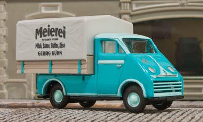 """Der DKW 3=6 """"Meierei"""" in H0 von Busch; Foto: jsk"""
